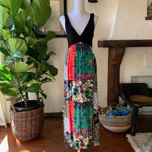 Patchwork Patterned Maxi Dress from Early 00's!